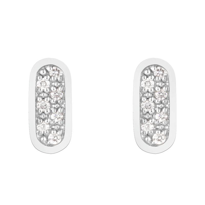 Boucles d'oreilles So Shocking Primavera en or blanc et diamants