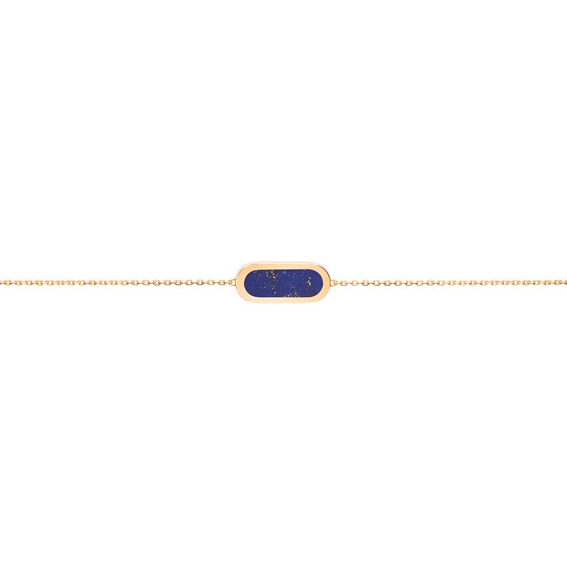 Bracelet So Shocking Primavera en or jaune et lapis lazuli