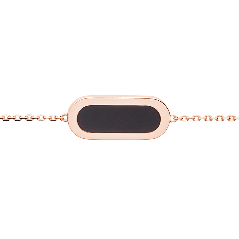 Bracelet So Shocking Primavera en or rose et onyx