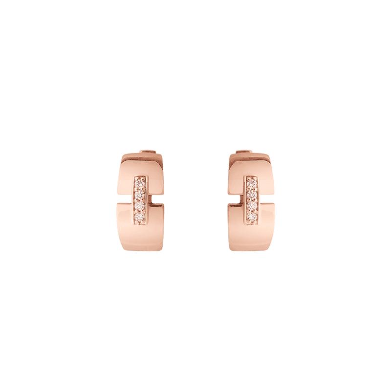 Boucles d'oreilles So Shocking Capriccio en or rose et diamants