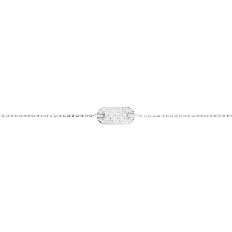 Bracelet So Shocking Lune di miele en or blanc et diamants