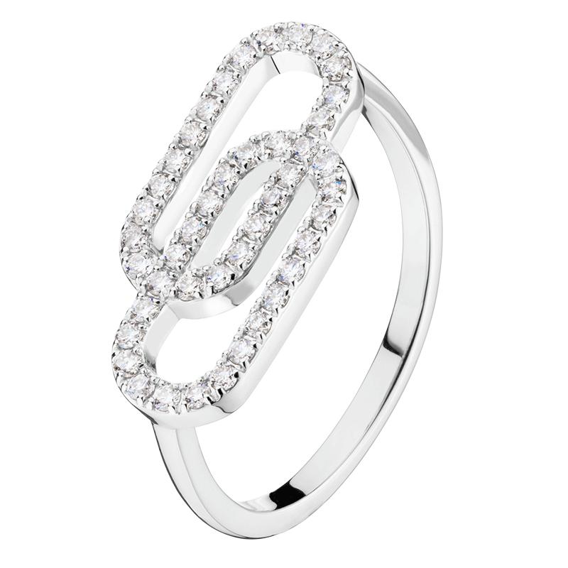 Bague So Shocking Lucky in Love grand modèle en or blanc et diamants