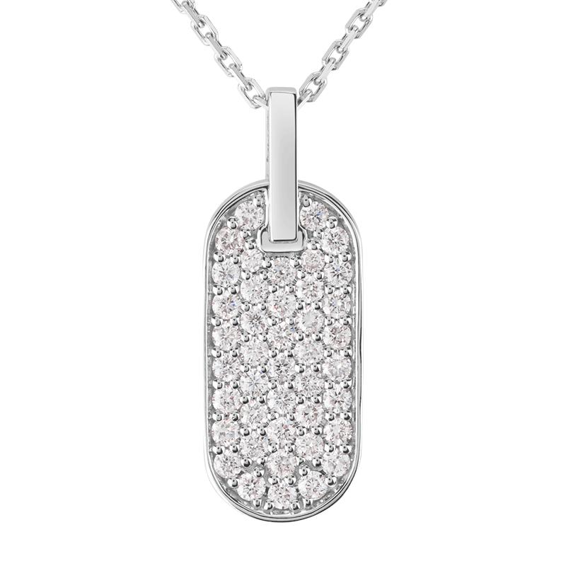 Collier Singulière vertical en or blanc et diamants