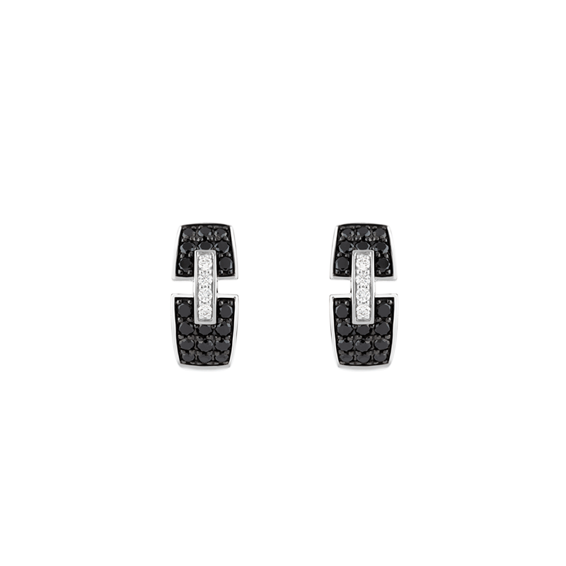 Boucles d'oreilles So Shocking Capriccio en or blanc et diamants noirs