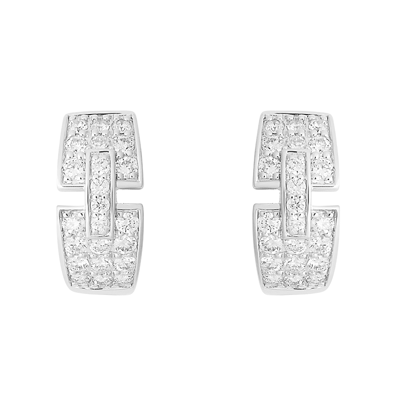 Boucles d'oreilles So Shocking Capriccio pavées en or blanc et diamants
