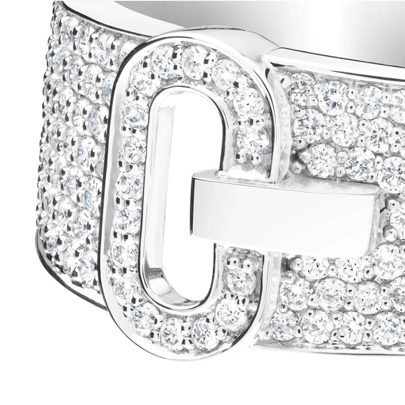 Bague So Shocking Emotion pavée en or blanc et diamants