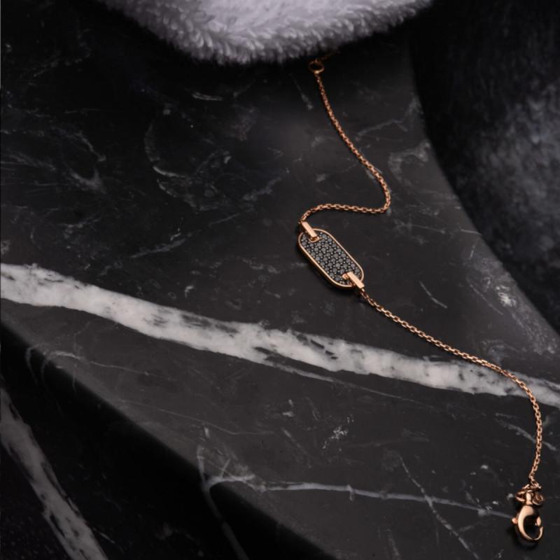 Bracelet So Shocking Lune di miele en or rose et diamants noirs