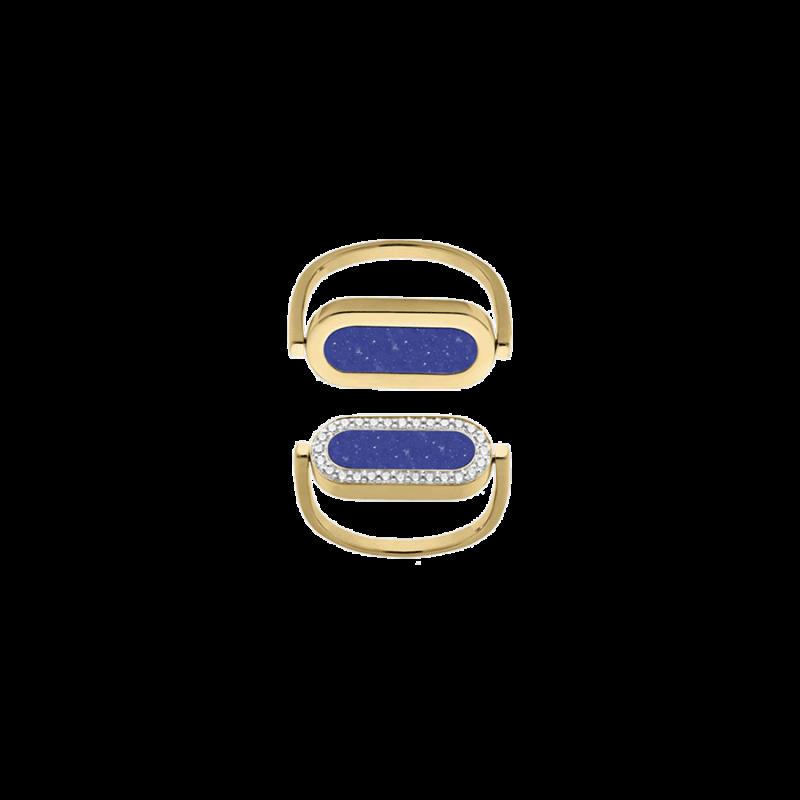 Bague So Shocking réversible Inverso en or jaune lapis lazuli et diamants