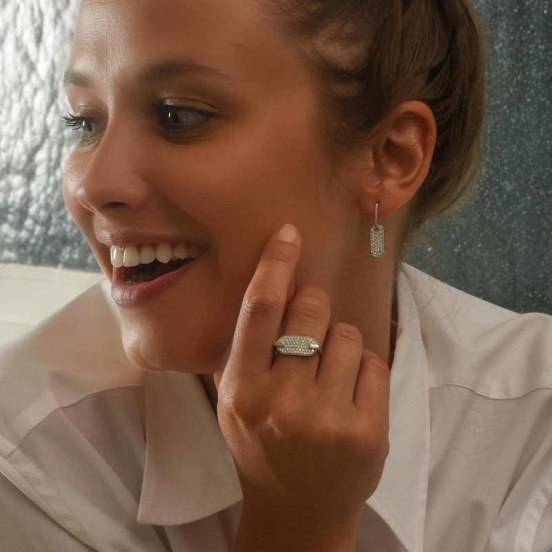 Boucles d'oreilles So Shocking Lune di miele en or blanc et diamants