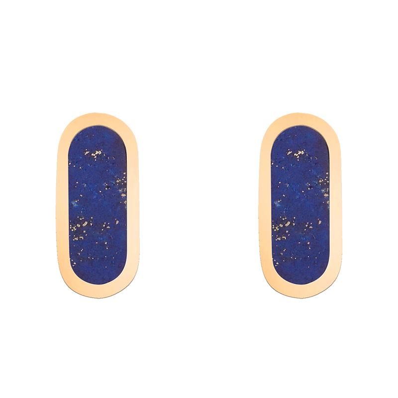 Boucles d'oreilles So Shocking Primavera en or jaune et lapis lazuli