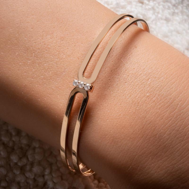 Bracelet Jonc So Shocking Origine en or rose et diamants