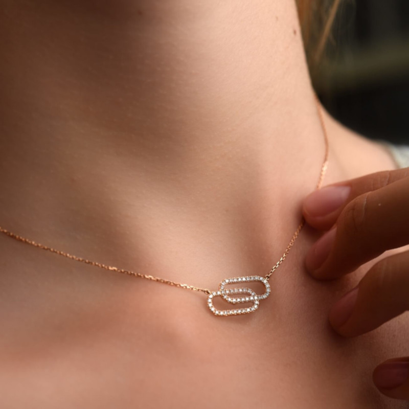 Collier So Shocking Lucky in Love grand modèle en or rose et diamants