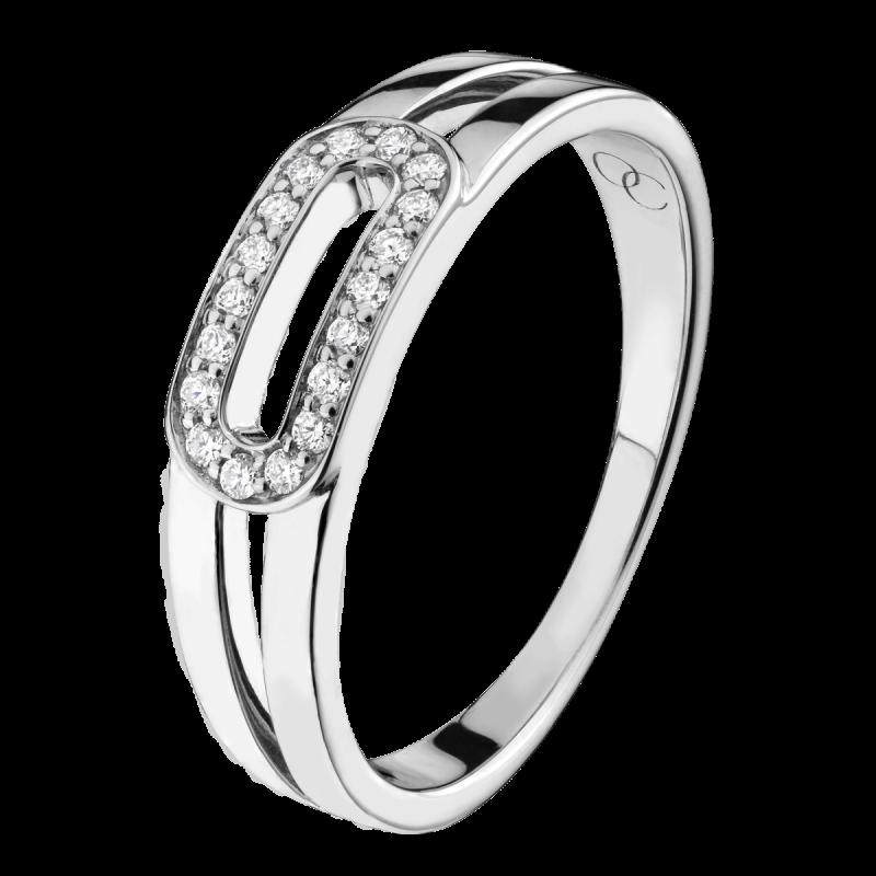 Bague Singulière en or blanc et diamants