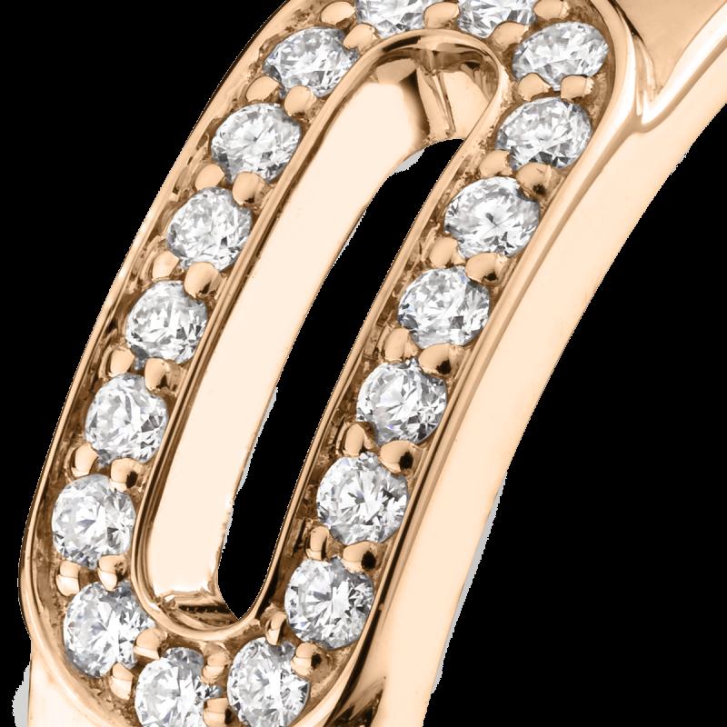 Bague Singulière en or rose et diamants