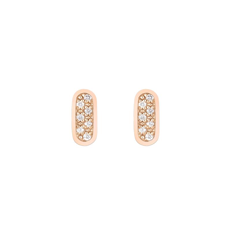 Boucles d'oreilles So Shocking Primavera en or rose et diamants